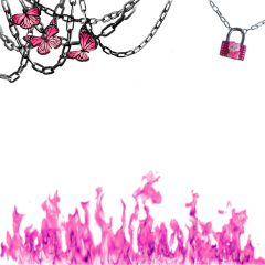 freetoedit messy pink chains heart