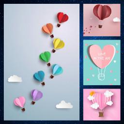 freetoedit balloons hotairballoons hearts crafts