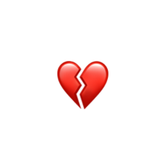 sad broken brokenheart emoji heart freetoedit