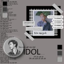 kimnamjoon bts gray rm polaroid freetoedit