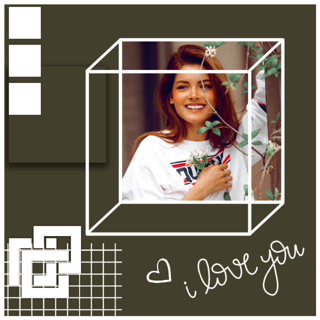#freetoedit squares edit ❤️ #square #frame #squares #frames #aesthetic #black #blackframe #aesthetics #retro #vintage #model #plants #replay #replays #green #darkgreen #greenaesthetic #smile #background #popular #text #love