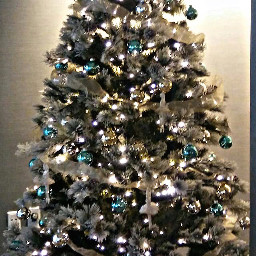 freetoedit tree lights bow ornaments