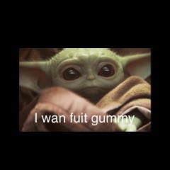 baby babyyoda yoda fruitgummy starwars freetoedit