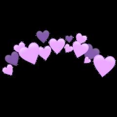 heartjoon purple heartcrown freetoedit