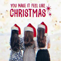 freetoedit december remixit xmas girls