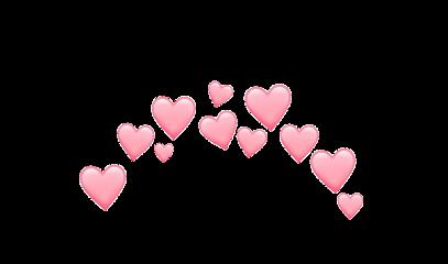 crown pink heart cute kawaii freetoedit