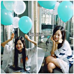 jisoo ballon blue freetoedit