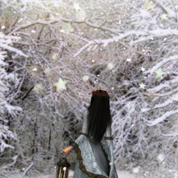 freetoedit winter snow snowing woman