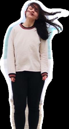freetoedit standing windy hairblowing girl
