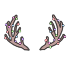 christmas antlers antler merrychristmas colorful freetoedit