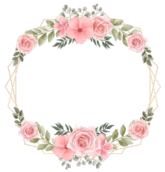 rose wreath flower square geometric freetoedit