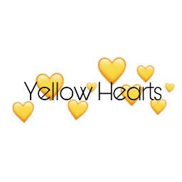 yellow hearts yellowhearts freetoedit