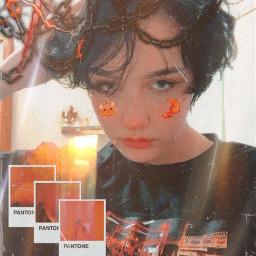 chloemoriondo orangeaesthetic black grunge edgy