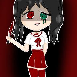 drawings yandere murder blood knife