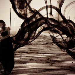 freetoedit creepy ink woman horrorart