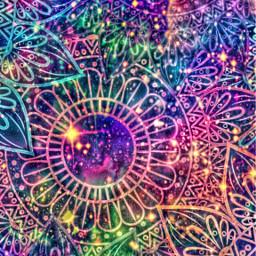 freetoedit glitter sparkle galaxy flowers