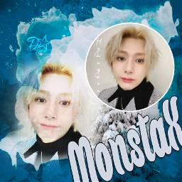 monstax hyungwon winter snow blue freetoedit
