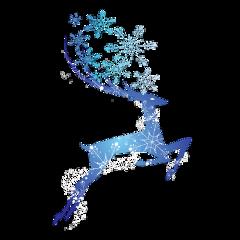 ftestickers christmas reindeer snowflakes sparkle freetoedit