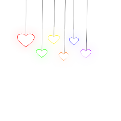 hearts lights colorful neon glow ftestickers freetoedit