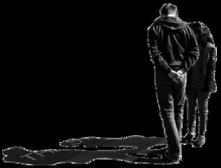people shadow walking blackandwhite silhouette freetoedit