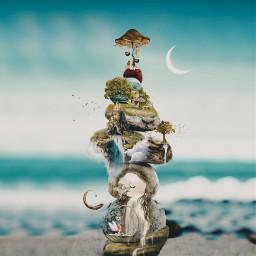 freetoedit surreal surreality fairytail ocean