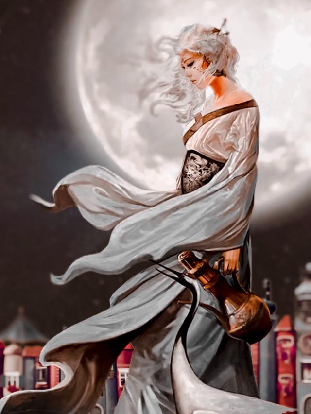 #freetoedit #surrealism #sadness #girl #moon