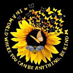 freetoedit bee butterflies flower sunflower