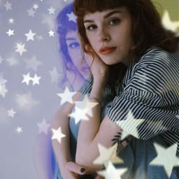 freetoedit glitch glitcheffect stars bokeh