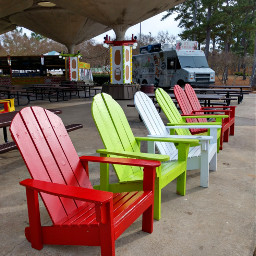 freetoedit green chairs outdoors colorful
