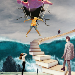 freetoedit surreal stairs 3deffect