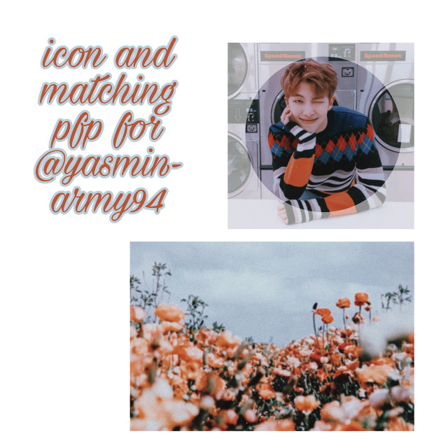 Icon and matching pfp for @yasmin-army94  !!! I hope u like it 🧡 UwU 🧡