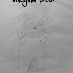 windmill handdrawing simple