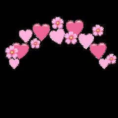 heartjoon pink heartcrown heart emoji freetoedit