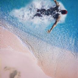 freetoedit swimmer sea ocean beach
