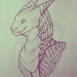 drawing dragon art anthro furry