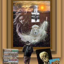 freetoedit quotesandsaying lion kitty vangogh