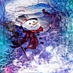 freetoedit hdreffect overlayeffect doubleexposure snowman