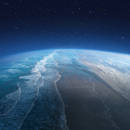 earth beach space freetoedit remixit fte