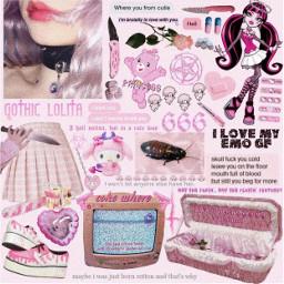 pinkgrunge pinkaesthetic pink grunge pinkgoth