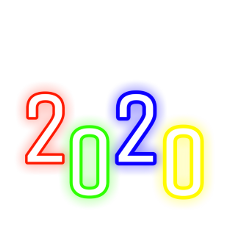 freetoedit newyear 2020 colorful neon