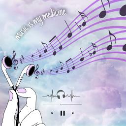 freetoedit music aesthethic sky