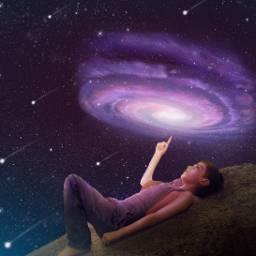 universe shootingstars surreal fantasy stars freetoedit