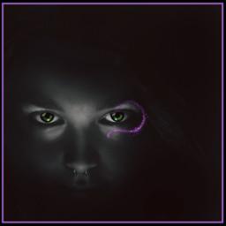 myedit purple dark lady face freetoedit srcpurplesparkles purplesparkles