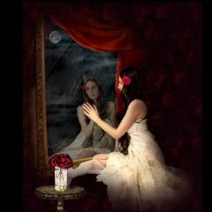 spiegel frau woman red ccc freetoedit
