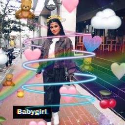 freetoedit babygirl teddybear heart