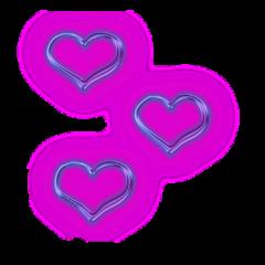coracoes hearts amor love neon freetoedit