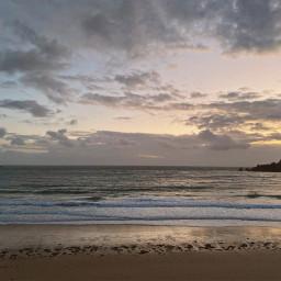 freetoedit beach sea ocean clouds
