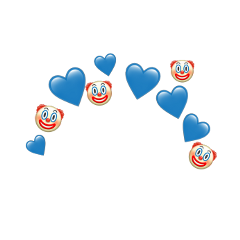 heartjoon blue clown emoji crown
