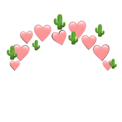 heartjoon pink green cactus heartcrown freetoedit