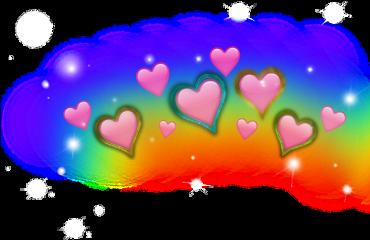 ftestickers stickers heart rainbow freetoedit